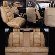 Auto Sitz Abdeckung Warm Halten Winter Auto Sitzkissen Beflockung Tuch Fell Nicht Bewegt Sich Universal Koffer Nicht-rutsche Für lada Vesta E1 X20