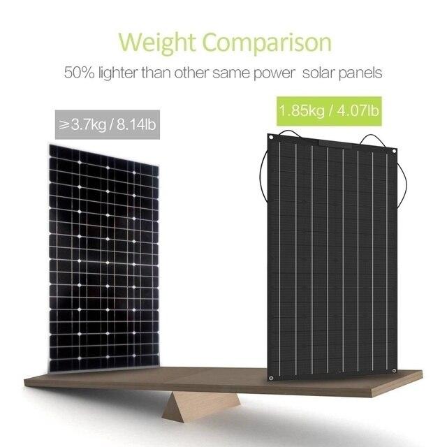 XINPUGUANG 1pcs~ 5pcs  18v 120W Black Flexible Solar Panel 18V/36v 240w 48V/18V 360W 12V/24V 480W 600W 5