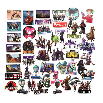140pcs Different Fortnites Sticker Mix Stickers Car Styling Bike Motorcycle Phone Laptop Travel Luggage Fortress Night Sticker 2