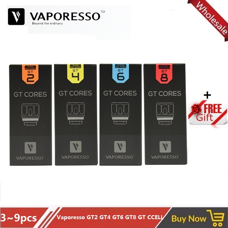 3~9PCS/Lot Original Vaporesso GT Coil E Cigarette GT2 0.4ohm GT4 0.15ohm GT6 0.2ohm GT8 0.15ohm Core Head For NRG Tank Vape