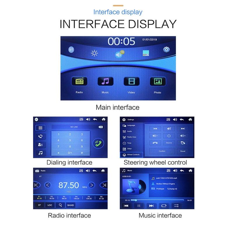 SWM-S7 7 Inch HD Touc-h Big Screen Car BT MP5 Player Car MP3 Card Machine FM With CD Player DVD 50AUG1220