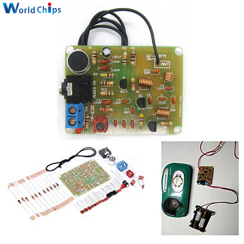88-108 МГц модуль fm-передатчика электронные наборы DIY Частотный беспроводной микрофон передатчик части платы DC 3-6 в FM модуль