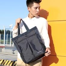 2020 Waterproof Nylon Men's Handbag Large Capacity Lightweight Man Shoulder Bag Stylish Casual High Quality Black bolso hombre