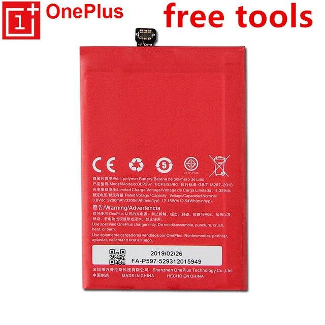 Nouveau BLP597 3300mAh Batteries pour Oneplus 2 une Plus deux batterie téléphone portable + outils cadeaux + autocollants batterie Rechargeable