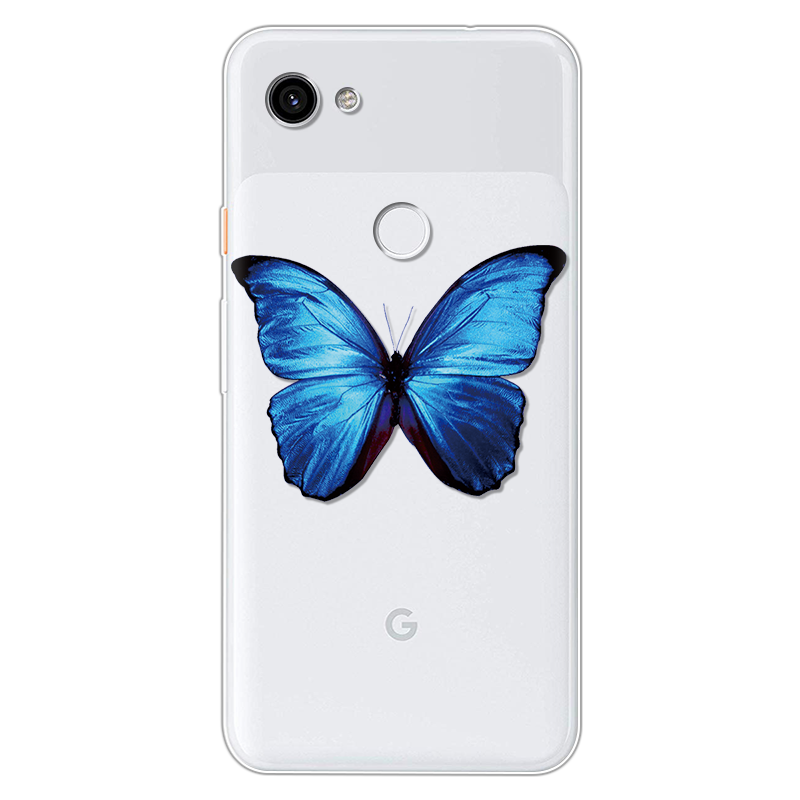 Colorful Butterfly TPU Case For Google Pixel 3 3A 2 4 XL Ultra Thin Back Cover For Google Pixel 3A XL Clear Silicone Phone Cases