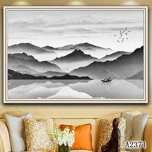 Абстрактная масляная живопись печать на холсте в китайском стиле