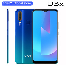 New original vivo U3x Celular 6.35inch Screen 3G 32G Snapdragon665 5000mAh Battery Cellphones 18W Ch