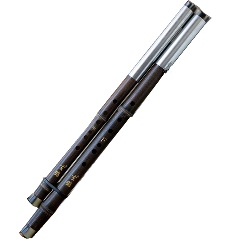 Transverse Playing Flute Bawu Double Pipes Bamboo Bawu Flute C+G / BB+F Bass+Soprano Flute Bau Professional Musical Instruments