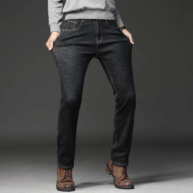 Maschio Dei Jeans Degli Uomini di Uomini di Jean Homme Denim Slim Fit Pantaloni Pantaloni Dritti Blu Nero Biker Molle di Alta Qualità di Affari Casual skinny