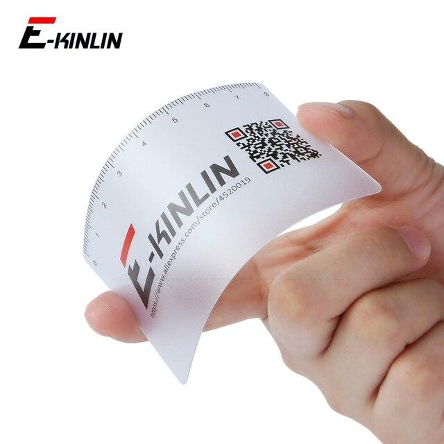 Ruler Plastic Open Mobile Phone LCD Screen Disassembly Teardown Repair Pry Opening Tool Scraper Measuring Business Tools Card 1