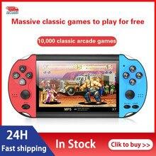 Console de jogos de mão embutido 10000 jogos consolas de jogos de vídeo 4.3 polegadas clássico duplo-shake consolas de videojuegos