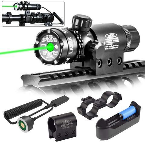 tatico fora do ponto verde mira laser 532nm interruptor ajustavel rifle scope caca com montagem