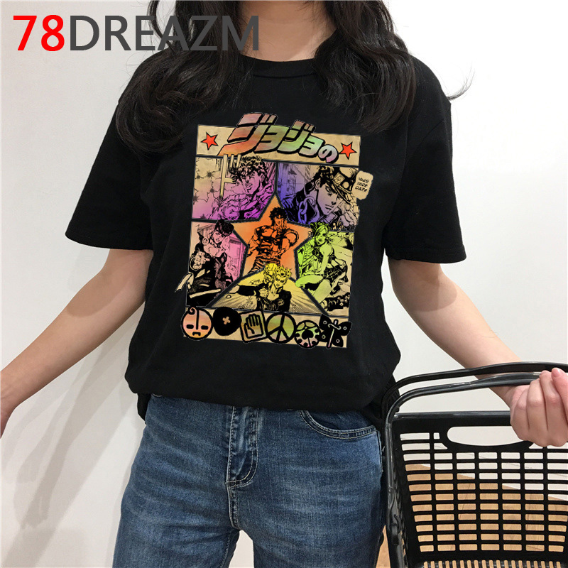 Jojo Bizarre Adventure T Shirt Men Japanese Anime Summer Top T-shirt Funny Cartoon Graphic Tee Oversized Fashion Streetwear Male