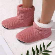 Women Slippers Indoor-Shoes Winter Sequins Bling Plush Soft Warm High-Quality