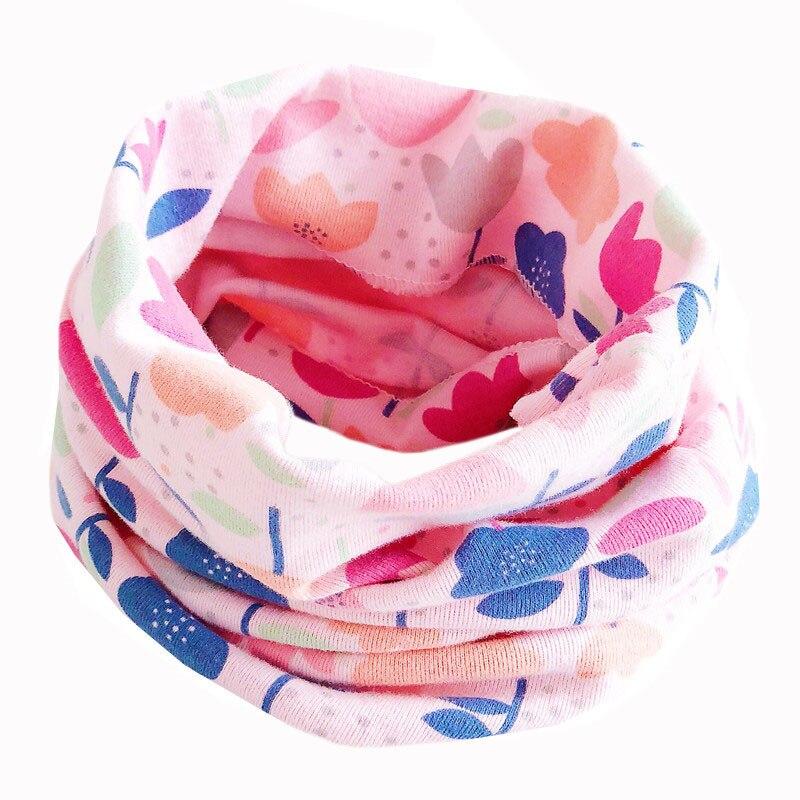 Новинка; Модный хлопковый шарф для маленьких девочек; осенне-зимний шарф для маленьких мальчиков; Детский шарф с круглым вырезом; Детские шарфы; волшебный шейный платок - Цвет: New Color flower