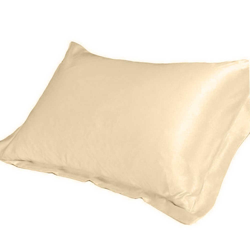 1/2pc 新女王/標準シルクサテンの枕ケースのための複数の色の枕カバー高級枕ケースベッドスロー 48 × 74 センチメートル