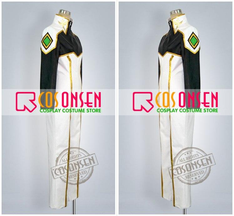 Anime Code Geass chevalier de sept Cosplay Costume blanc noir combinaisons de combat uniforme ensemble complet pour unisexe personnalisé faire n'importe quelle taille - 2