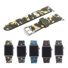 цена на Colorful Soft Silicone Sports Band for Apple Watch Series 1 2 3 38MM 42MM  Watchband Strap for 40MM 44MM iWatch Series4 Bracelet