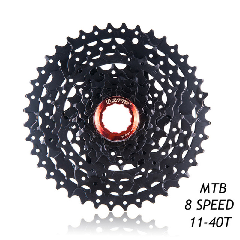 NEW 8 speed Cassette 11-40T Freewheel 8 Speed Steel Flywheel for Parts M410 K7 X4 MTB Mountain Bike Bicycle Part Black / Silver image