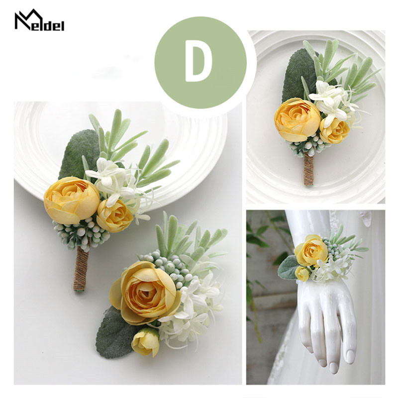 wedding accessories wrist corsage bracelet boutonniere (6)