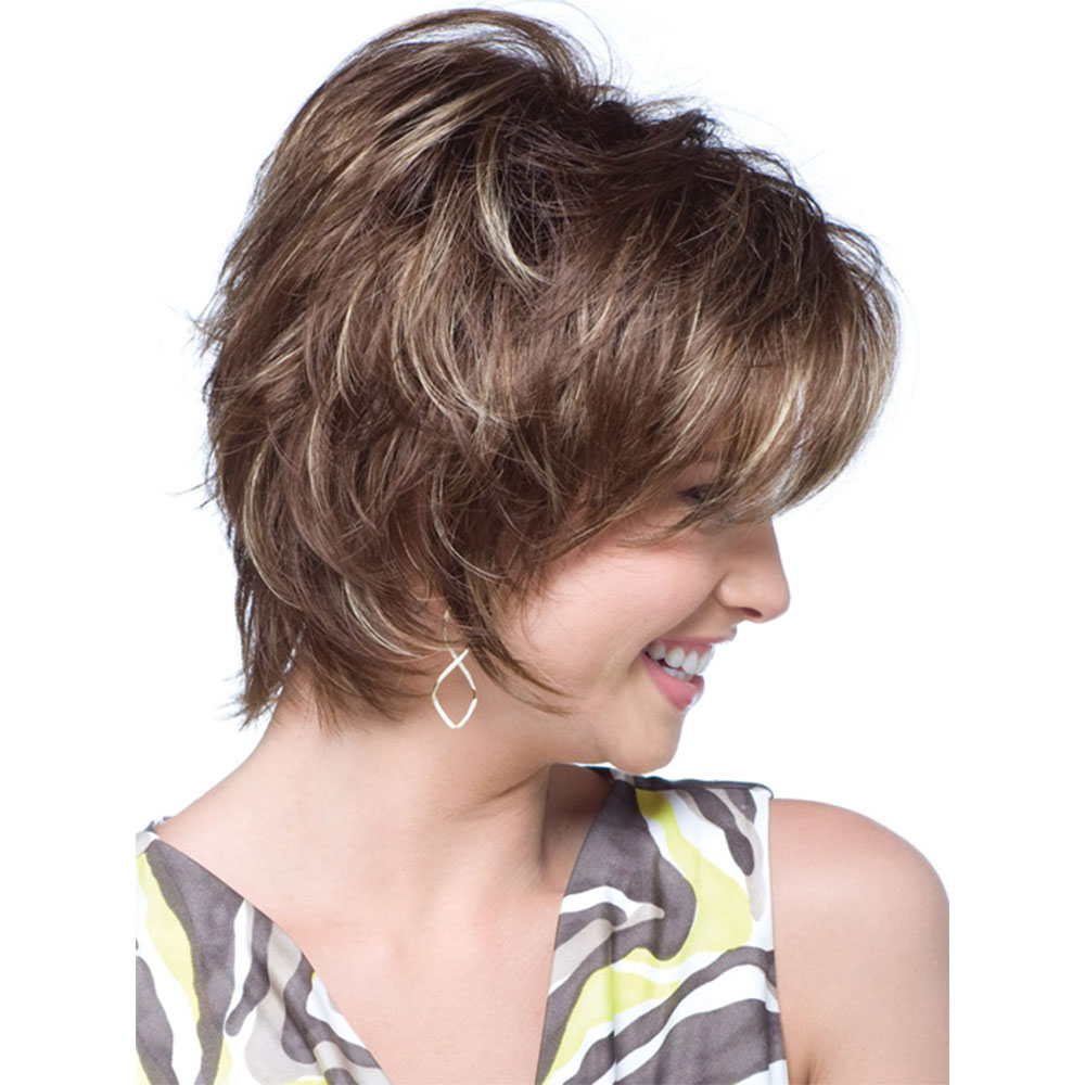 Amir Short Pixie Cut Synthetic Wigs for Women Blonde Natural Hairline Daily Wear Cosplay Wig With Bangs Costume