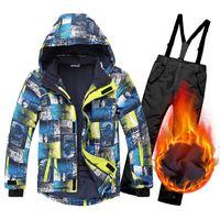 Ski Suit Kids Winter Warm Windproof Waterproof Outdoor Children Sports Snow Coats and Pants Set Boys Girls Snowboard Jackets