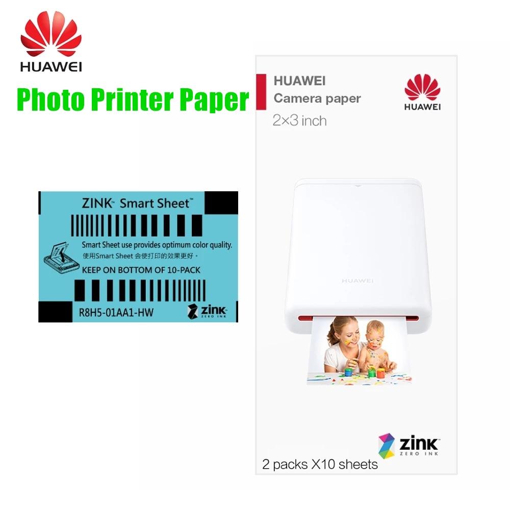 Портативный карманный мини-фотопринтер huawei, CV80, 100 листов, фотобумага HUAWEI Zink 2*3 дюйма с защитой от подделки
