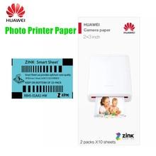 Huawei mini portátil bolso foto ar impressora cv80 100 folhas huawei foto papel zink 2*3 polegadas com anti-falsificação
