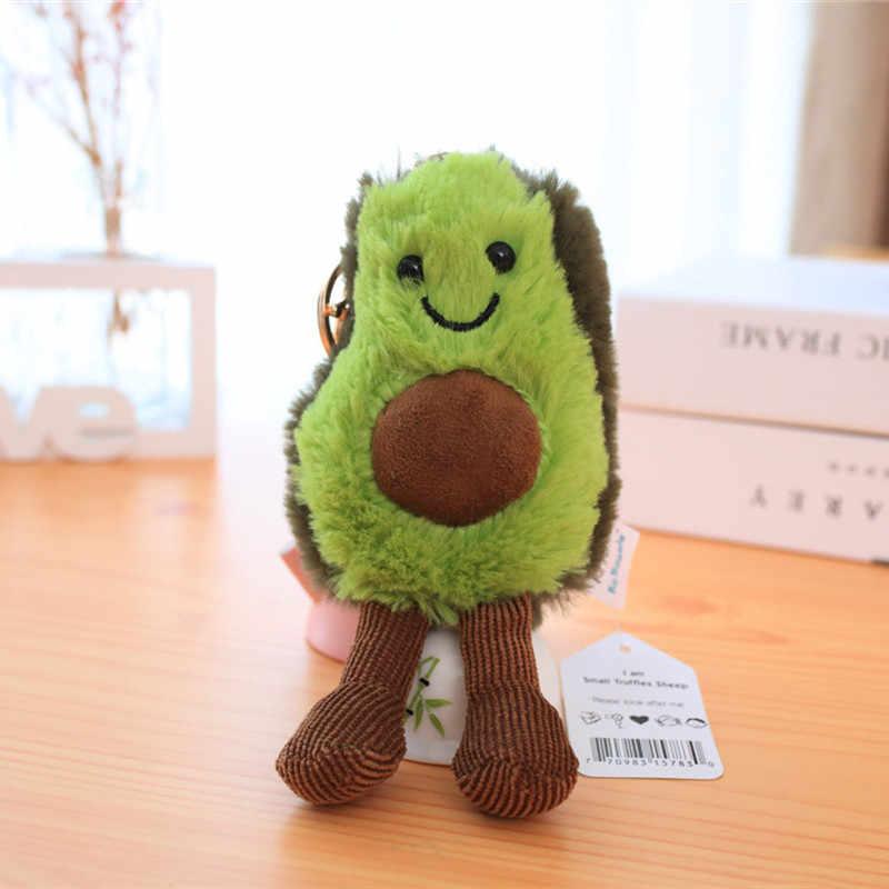 15cm mini macio de pelúcia fruta abacate chaveiros pinho maçã cereja mochila pingente moda apple carro feminino sacos decoração brinquedos baratos