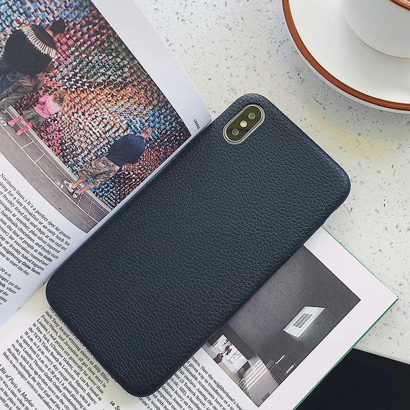 Boucho для iphone Xs MAX XR X XS чехол s крокодиловая текстура чехол для телефона для iphone 11 Pro max 7 8 6 6S Plus Роскошный чехол из искусственной кожи - Цвет: Litchi black
