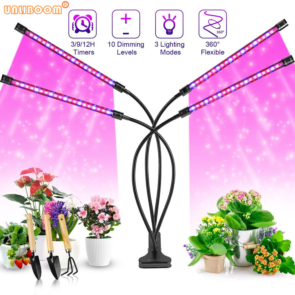 USB Timer LED Grow Light 10W 20W 30W 40W Desktop Clip Plant Full Spectrum Phyto Lamp for Vegetable Flower Seedling Fitolamp