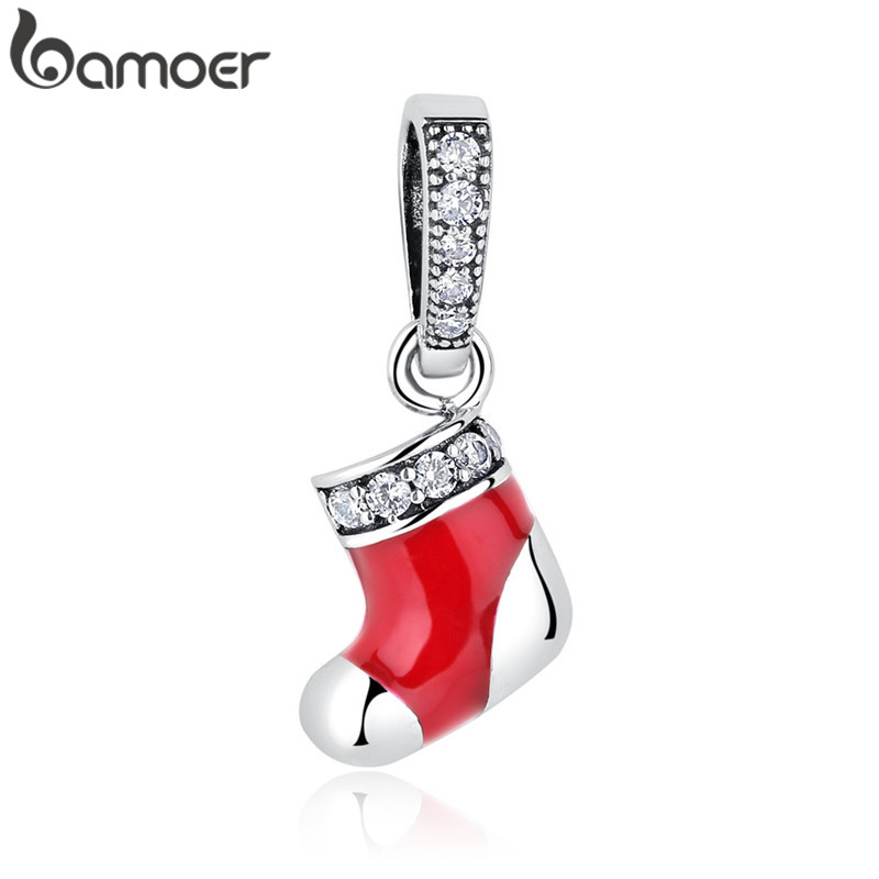 Bamoer 2019 New  Silver 925 Jewelry Christmas Collection Charm Gifts For Women Girl DIY Jewelry Fit Original Bracelet Bangle