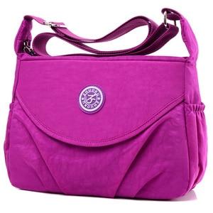 Image 2 - 2020 New Single  Zipper Shoulder & Crossbody Bags Nylon Waterproof Package Compartment  Womens Messenger Bag