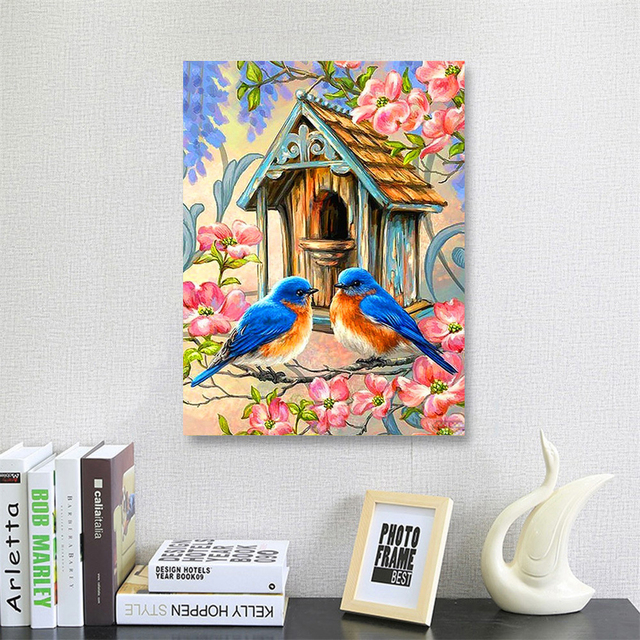 HUACAN 5D Diamond Painting Bird Animal Full Drill Embroidery Square Picture Handcraft Kit Home Decoration New