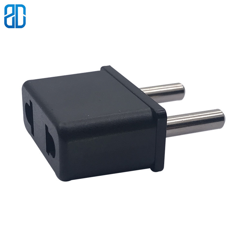1PCS EU Travel Plug 2 Pin EU European To US EU UK AU Universal Travel Adapter Plug Converter Wall Socket Small Plug Adaptor image