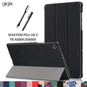 Gligle Case Cover Magnet-Stand Tb-X606x10.3inch-Shell Touch-Pen Lenovo Tab TB-X606F Fhd-Plus