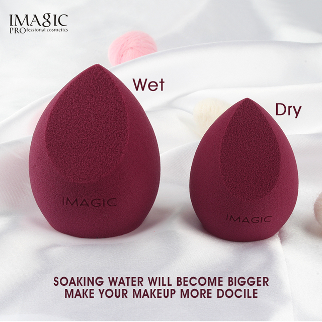 IMAGIC Makeup Mixer Soft Water Sponge Puff Professional Makeup Puff Sponge for Foundation Cream Concealer Makeup 3 Pack 1