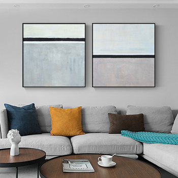 Hand-painted Oil Painting Abstract Decorative Painting The Living Room Modern Minimalist Restaurant Bivalent Combination Of Pain