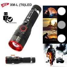Перезаряжаемый USB мини Ультра яркий светодиодный фонарь с фокусировкой луча батарея тактический фонарик для велосипеда Luz de bicicleta