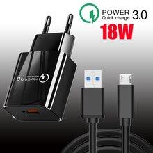 18 Вт QC 3,0 USB зарядное устройство с функцией быстрой зарядки для мобильного телефона адаптер для Realme 8 Pro Huawei Xiaomi Samsung стены мобильное зарядное ...