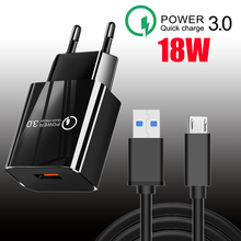18W QC 3.0 USB Charger Quick Charge For Phone Adapter For Realme 8 Pro Huawei Xiaomi Samsung Wall Mobile Charger Fast Charger