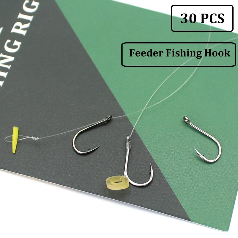 30 шт., рыболовные крючки для ловли карпа