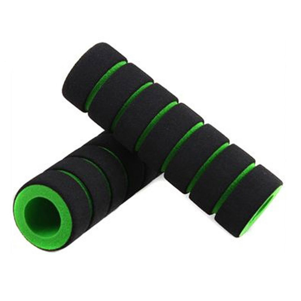 1Pair Bike Racing Bicycle Motorcycle Handle Bar Foam Sponge Grip Cover Non-slip Soft Handlebar Bike Cycling Supplies