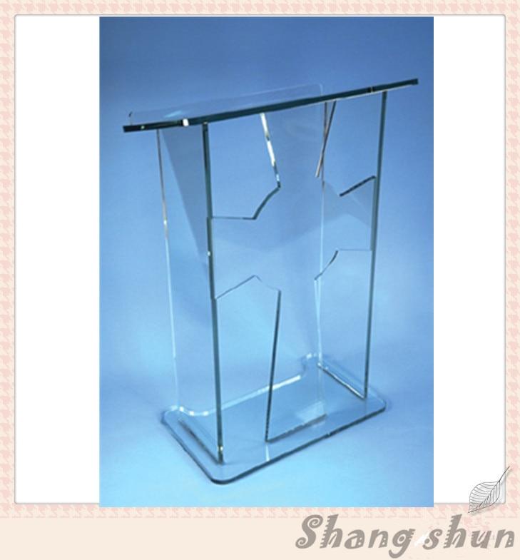 Floor Standing Acrylic Speech Lectern Clear Acrylic Podium Acrylic Podium Pulpit Lectern