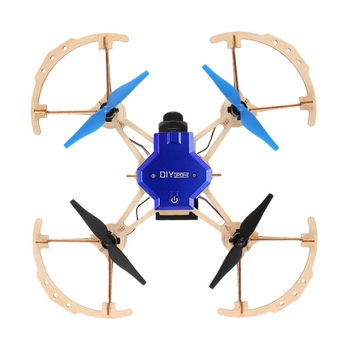 ZL100 Diy Drone Mini Pocket Racing RC Dron Wooden Quadcopter Mini Drone 2.4ghz Remote Control Diy Toys For Kids