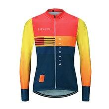 Biehler 2020 nova camisa de outono roupas masculinas manga longa camisa ciclismo camisas maillots ciclismo mtb mountain bike topos