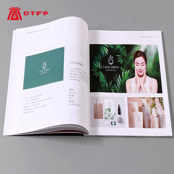 Booklet Cover Pamphlet A5 A4 Custom School Book Colorful Corporate Brochure Bound Bulk Softcover Book Catalog Printing