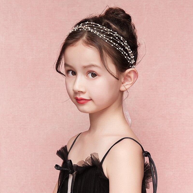 Children's Mori Super Fairy Wreath Headband Beaded Cute Flower Girl Headband Headdress Girls Performance Dress Gift Wholesale