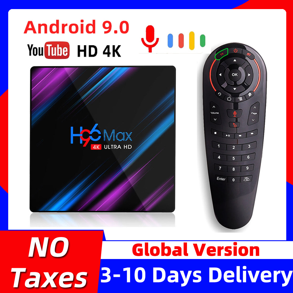 H96 MAX Smart TV Box Android 9 9 0 4k Android TVBox RK3318 4GB RAM 64GB ROM Set top Box H96MAX 2GB 16GB Google PlayStore Youtube