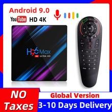 H96 MAX Smart TV Box Android 9 9.0 4k Android TVBox RK3318 4GB RAM 64GB ROM Set top Box H96MAX 2GB 16GB Google PlayStore Youtube